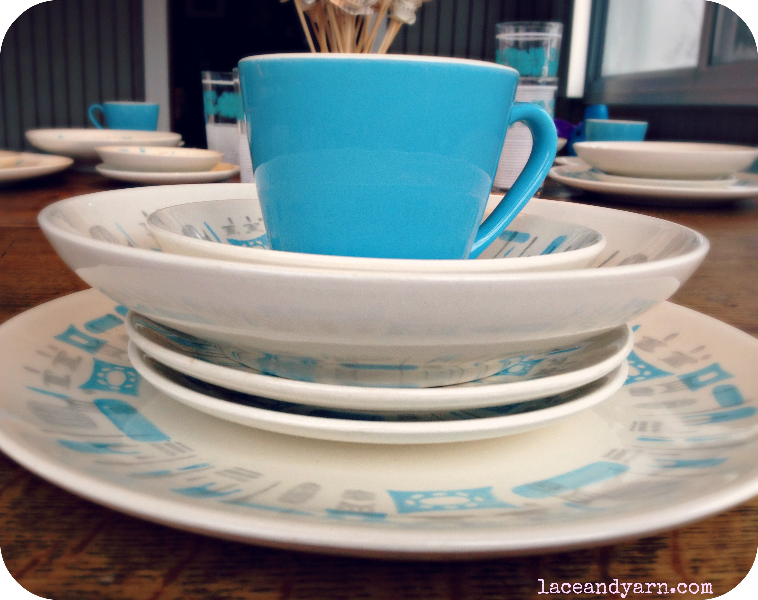 blue heaven by royal china & Vintage Feature: Blue Heaven Dishes | Lace And Yarn
