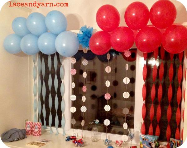 thomas party dessert table