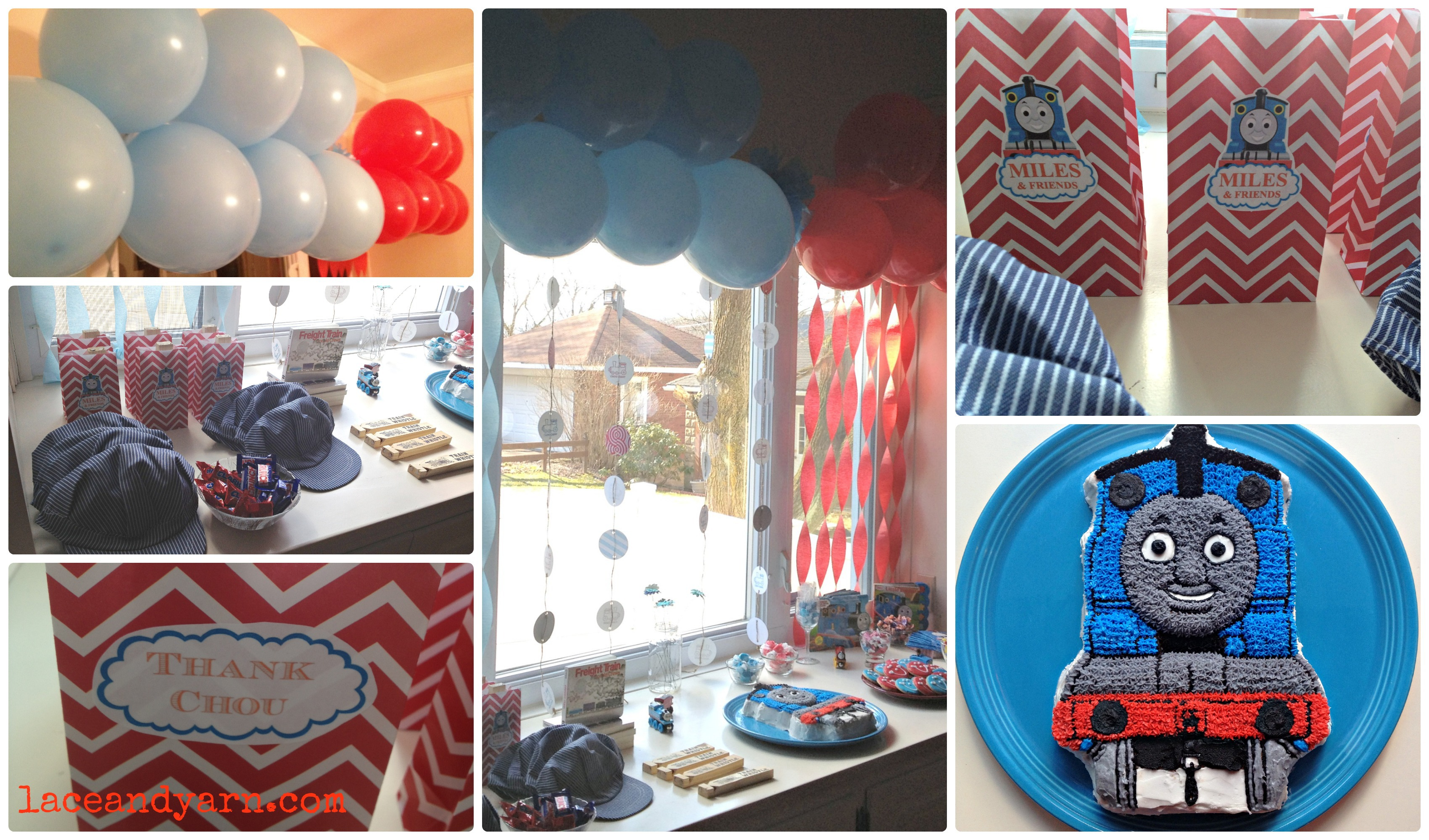 Choo choo thomas the tank engine inspired birthday party lace and thomas the train party solutioingenieria Image collections
