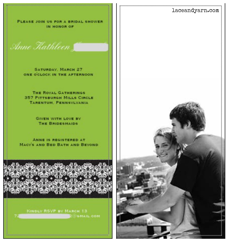 damask bridal shower invite