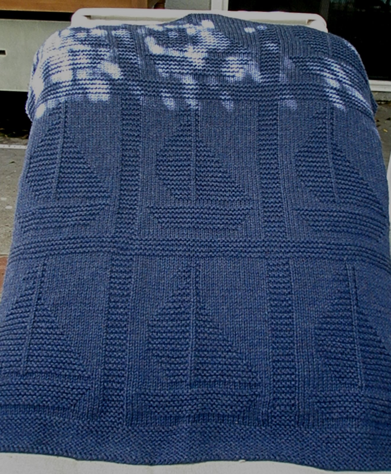 "Come Sail Away"" blanket free knitting pattern by Yarnhog 