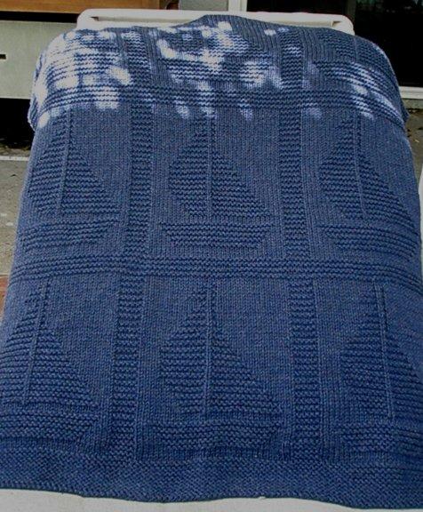 Come Sail Away Blanket Free Knitting Pattern By Yarnhog