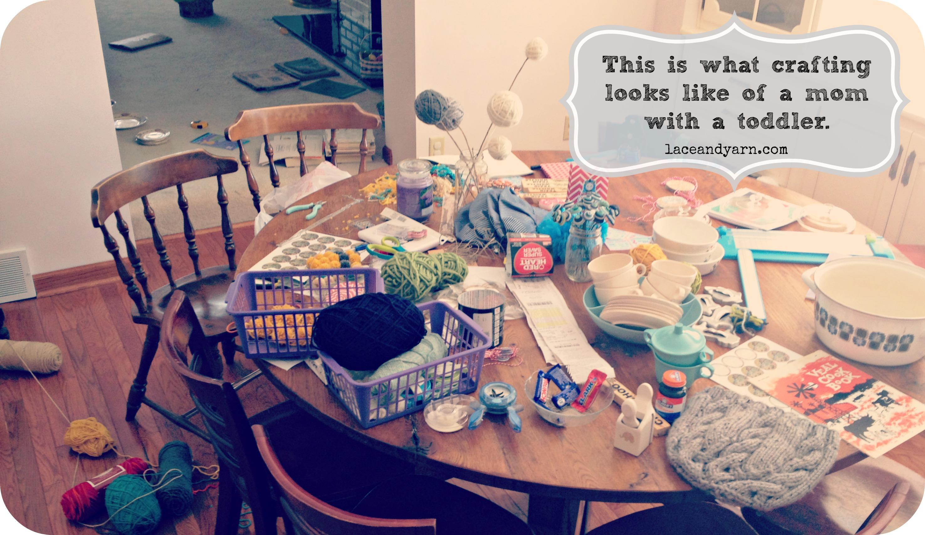 being a crafty mom