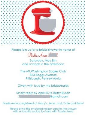 retro kitchen invite