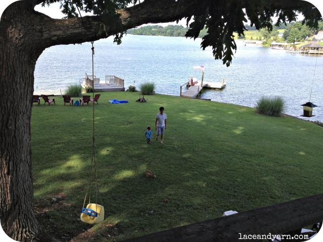 jack and miles at lake
