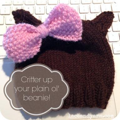 critter knit hat
