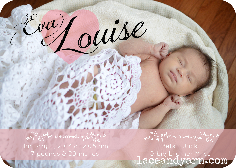 DIY Birth Announcement Using PicMonkey – Diy Birth Announcements