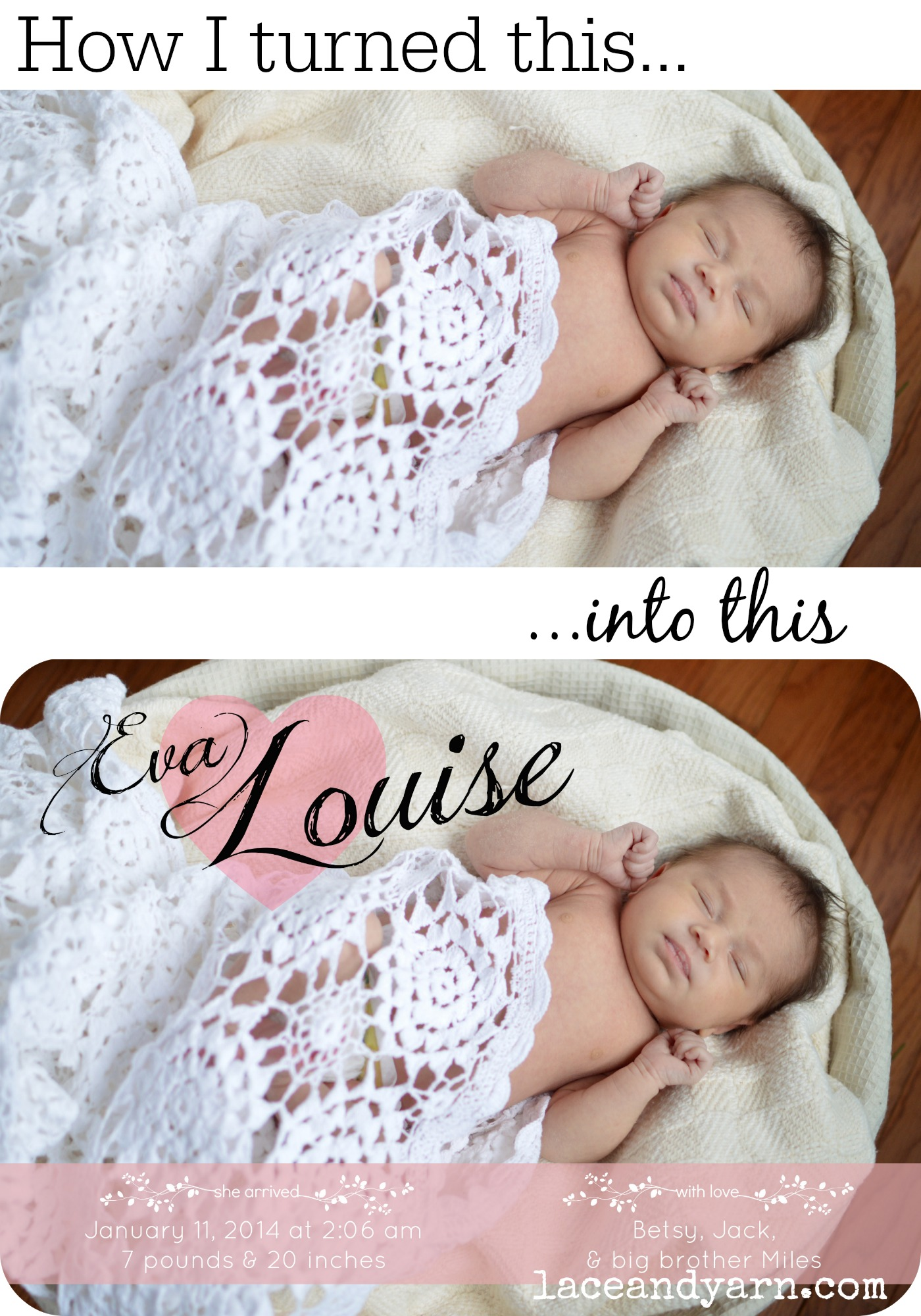 DIY Birth Announcement Using PicMonkey – Diy Baby Announcements